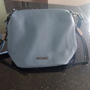 Like New Steve Madden Blue Leather Crossbody Purse